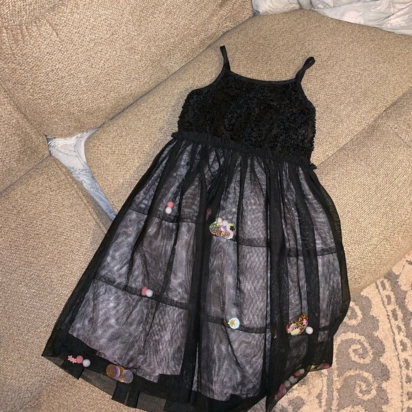 Cat & Jack Other - Girls Black Sequined party dress